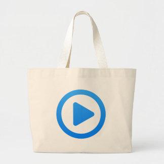 Media player Sign Large Tote Bag
