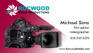 Video production business cards zazzle uk media production consultant film editor video business card reheart Image collections