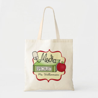 Media Specialist Tote - Apple, Book, and Mouse