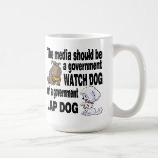Media Watch Dog not Lap Dog Basic White Mug