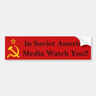 Media Watch You!! Bumper Sticker