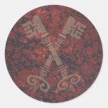 Mediaeval 21st keys against dark red marble