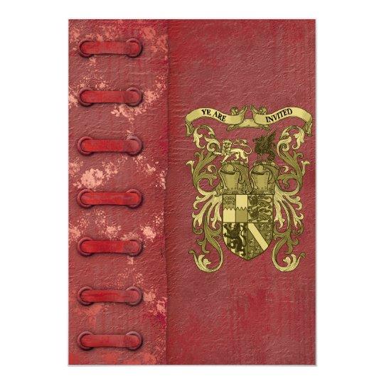 Wedding Invitations Cover: Mediaeval Book Cover Wedding Invitations