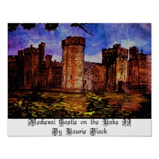 Mediaeval Castle on the Lake II Poster