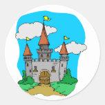Mediaeval Castle Round Sticker