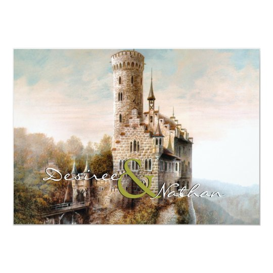 Mediaeval Castle Wedding Invitation