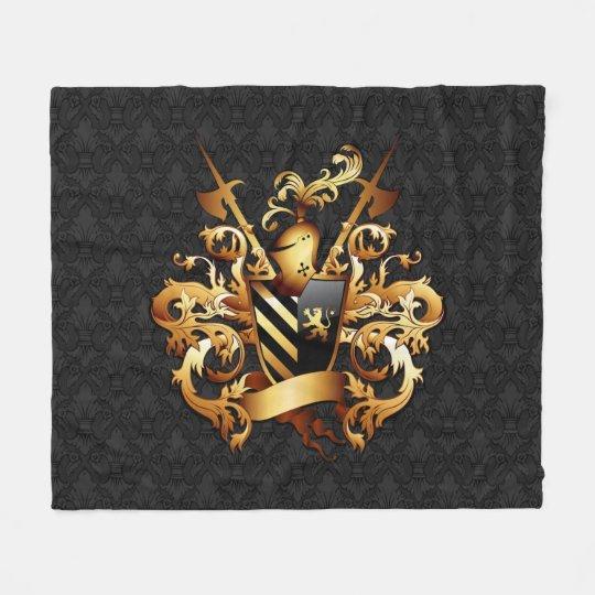 Mediaeval Coat of Arms Fleece Blanket