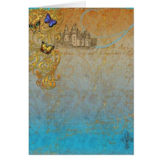 Mediaeval Fairy Tale Invitation or Greeting Card