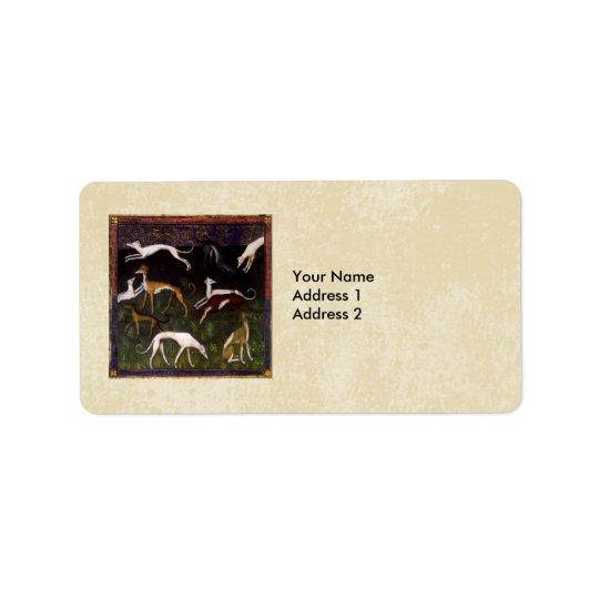 Mediaeval Greyhounds Custom Personalised Label