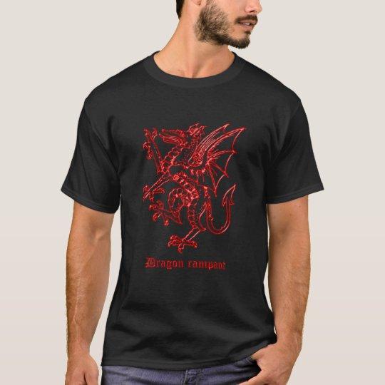 Mediaeval heraldry Dragon rampant black T-Shirt