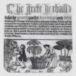 Mediaeval Herb Garden Square Sticker