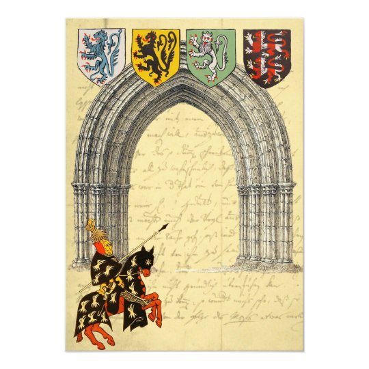 Mediaeval Knight Save The Date Cards