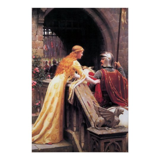 Mediaeval Lady and Knight Poster