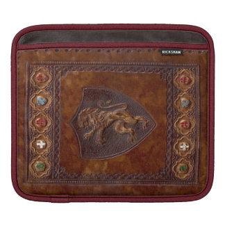 Mediaeval Leather Book Cover Lion Rampant iPad Sleeves