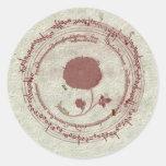 Mediaeval Manuscript Flower Sticker