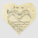 Mediaeval Manuscript Heart Heart Stickers