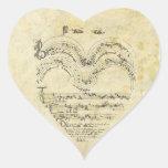 Mediaeval Manuscript Heart Sticker