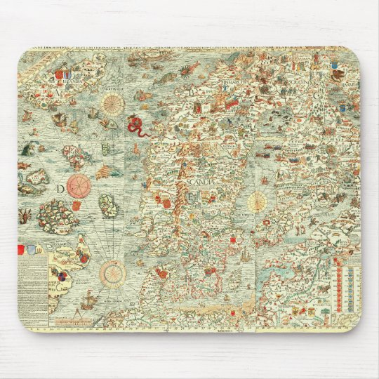 Mediaeval Map Mousepad