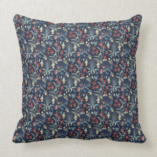 "Mediaeval Millefleur Throw Pillow 20"" x 20"""