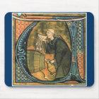 Mediaeval Monk Tasting Wine Mousepad