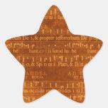 Mediaeval Music Manuscript Star Shape Stickers