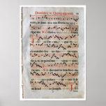 Mediaeval Music Score Poster