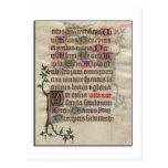 Mediaeval Parchment Postcard