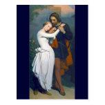 Mediaeval Romance Couple Postcard