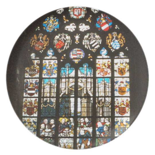 Mediaeval stained glass window, Holland Plate