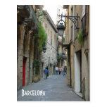 Mediaeval street postcard