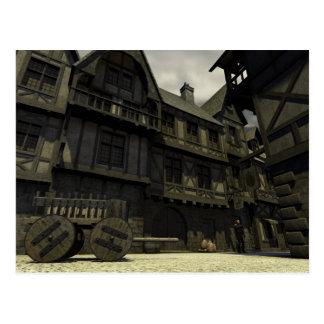 Mediaeval Street Scene - 2 Postcard