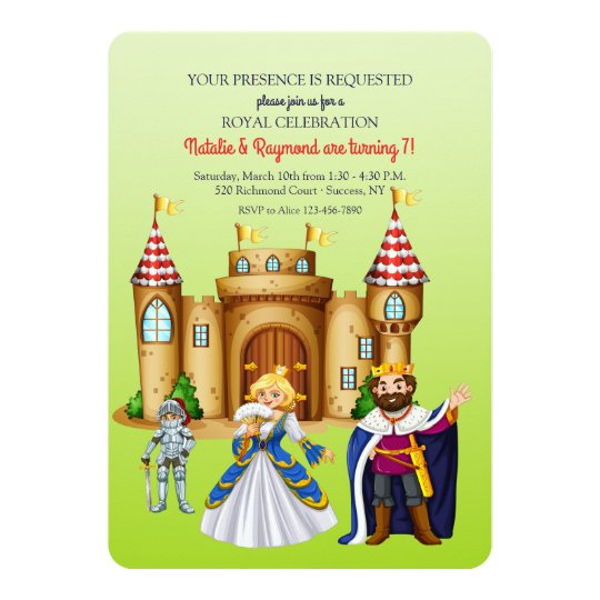 Mediaeval Times Birthday Party Invitation