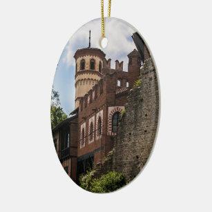 Mediaeval Tower Christmas Ornament