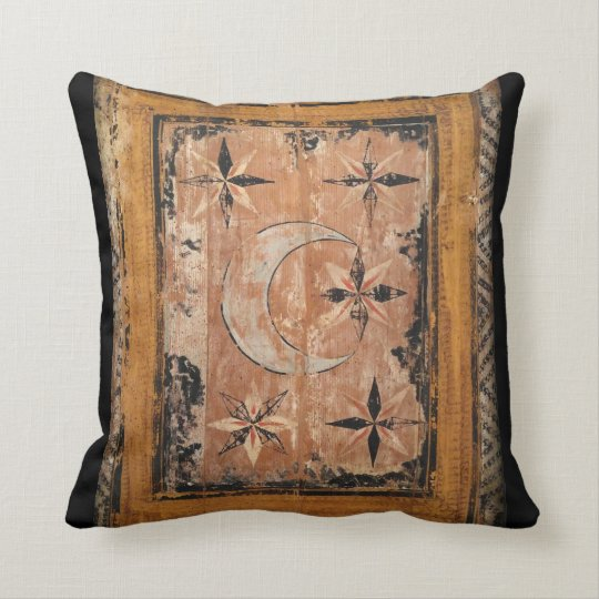 mediaeval wood painting art vintage old dark cushion