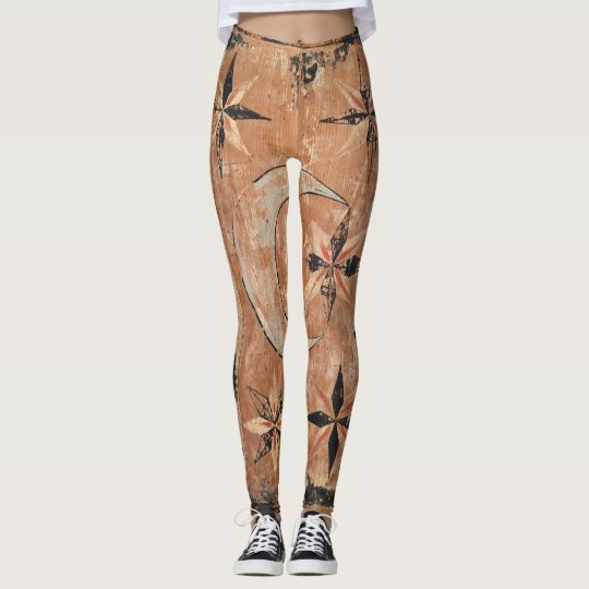 mediaeval wood painting art vintage old dark leggings