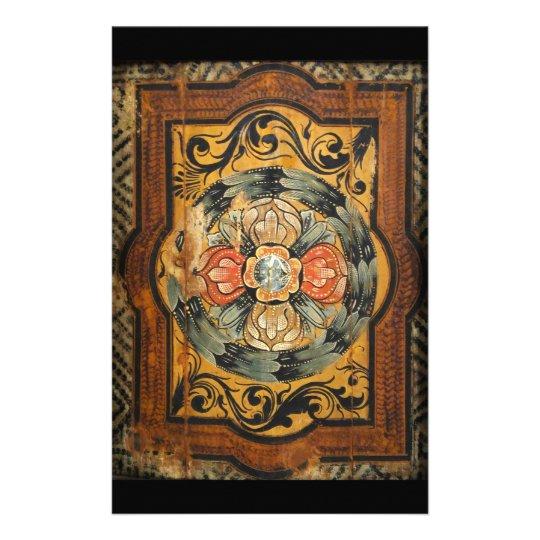 mediaeval wood painting art vintage old gothic stationery