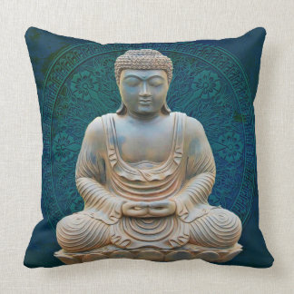 Mediating Buddha Spiritual Enlightenment Pillow
