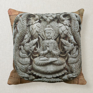 Mediating Buddha Spiritual Quote Pillow