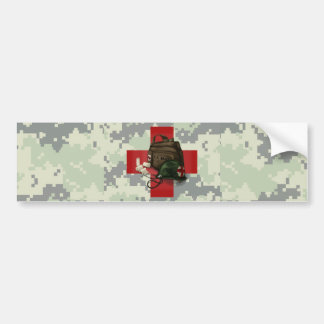 Medic Cross Camo Car Bumper Sticker