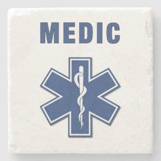 Medic EMS Stone Beverage Coaster