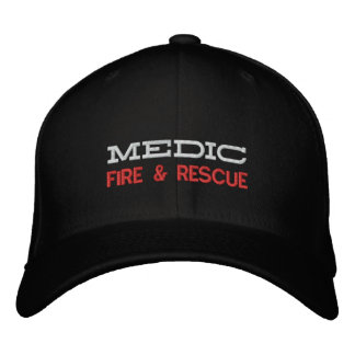 MEDIC, FIRE & RESCUE EMBROIDERED CAP