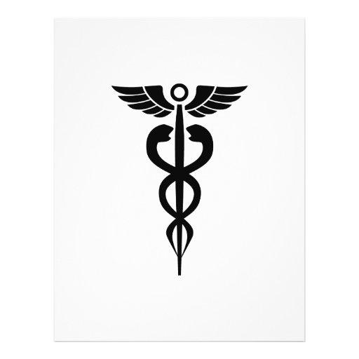 medical2006 BLACK MEDICAL SYMBOL HEALTH Personalized Flyer
