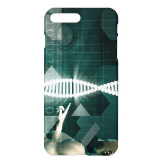 Medical Abstract Background of a Futuristic iPhone 7 Plus Case