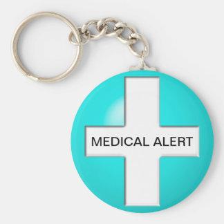 Medical Alert - Aqua Key Ring