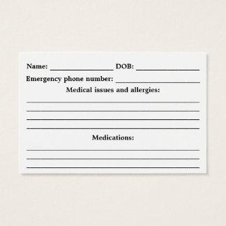 Medical Alert ID - Customisable Business Card