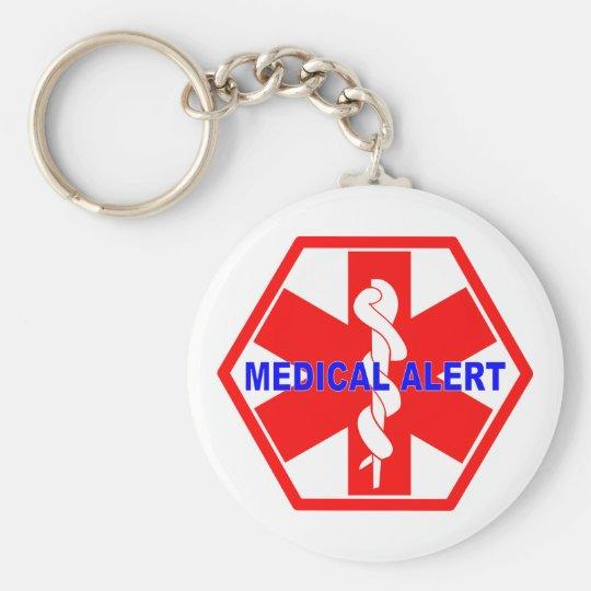 MEDICAL ALERT ID SYMBOL KEY RING