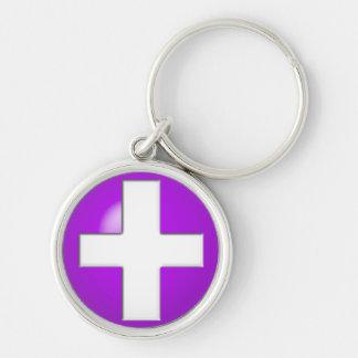 Medical Alert - Purple Key Ring