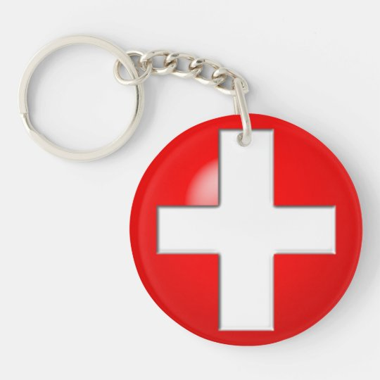 Medical Alert - Red Key Ring
