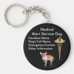 Medical Alert Service Dog ID Keychains