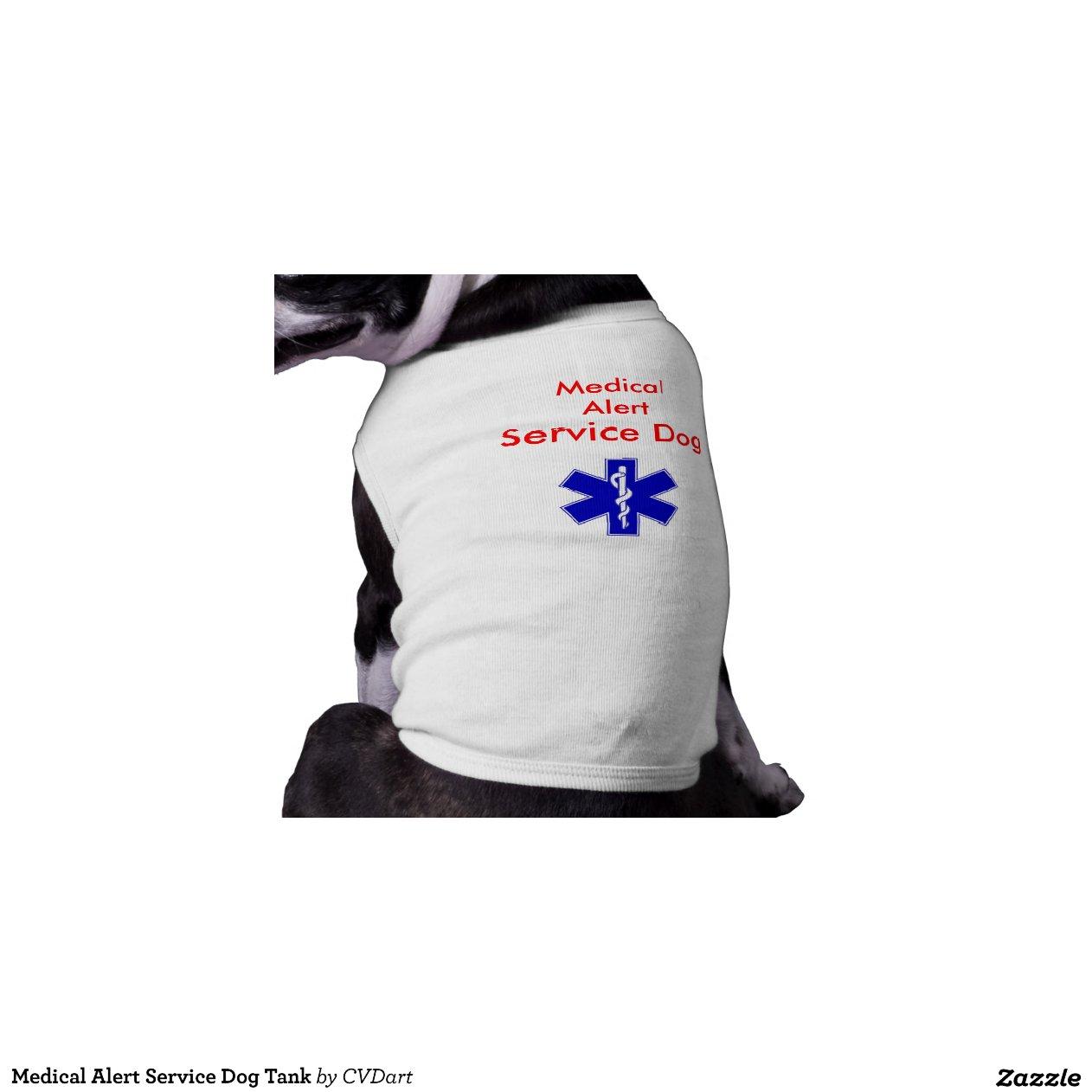 Medical Alert Service Dog Tank Pet T Shirt Zazzle
